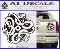 Celtic Knot Snake Decal Sticker DH Carbon Fiber Black 120x97
