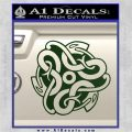 Celtic Knot Snake Decal Sticker DH Dark Green Vinyl 120x120