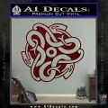 Celtic Knot Snake Decal Sticker DH Dark Red Vinyl 120x120