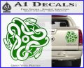 Celtic Knot Snake Decal Sticker DH Green Vinyl 120x97