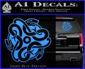 Celtic Knot Snake Decal Sticker DH Light Blue Vinyl 120x97