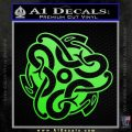 Celtic Knot Snake Decal Sticker DH Lime Green Vinyl 120x120