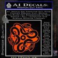 Celtic Knot Snake Decal Sticker DH Orange Vinyl Emblem 120x120