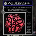 Celtic Knot Snake Decal Sticker DH Pink Vinyl Emblem 120x120
