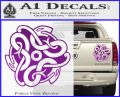 Celtic Knot Snake Decal Sticker DH Purple Vinyl 120x97