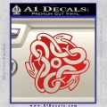 Celtic Knot Snake Decal Sticker DH Red Vinyl 120x120