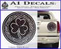 Celtic Shamrock Decal Sticker Carbon Fiber Black 120x97