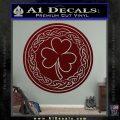 Celtic Shamrock Decal Sticker Dark Red Vinyl 120x120