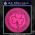 Celtic Shamrock Decal Sticker Hot Pink Vinyl 120x120