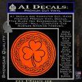 Celtic Shamrock Decal Sticker Orange Vinyl Emblem 120x120