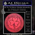 Celtic Shamrock Decal Sticker Pink Vinyl Emblem 120x120