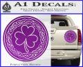 Celtic Shamrock Decal Sticker Purple Vinyl 120x97