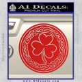 Celtic Shamrock Decal Sticker Red Vinyl 120x120