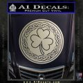 Celtic Shamrock Decal Sticker Silver Vinyl 120x120