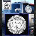 Celtic Shamrock Decal Sticker White Emblem 120x120