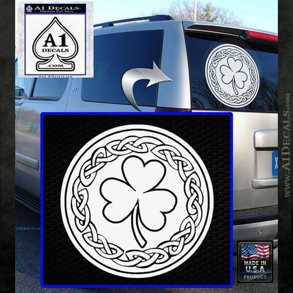 Celtic Shamrock Decal Sticker 187 A1 Decals