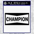 Champion Decal Sticker VZL Black Logo Emblem 120x120