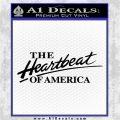 Chevy The Heartbeat Of America 2 Decal Sticker VZL Black Logo Emblem 120x120
