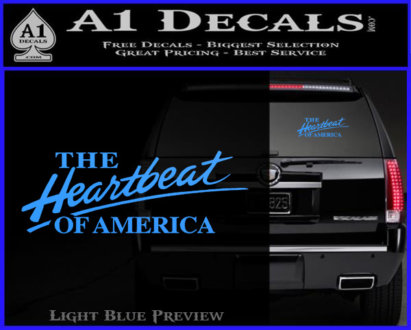 Chevy The Heartbeat Of America D2 Decal Sticker 187 A1 Decals