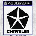 Chrysler Logo2 RDZ Decal Sticker Black Logo Emblem 120x120