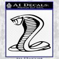 Cobra Exhaust Decal Sticker Black Logo Emblem 120x120