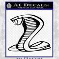 Cobra Exhaust Decal Sticker Black Logo Emblem 120x120