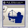 Compound Bow Hunter Decal Sticker Blue Vinyl 120x120