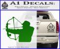 Compound Bow Hunter Decal Sticker Green Vinyl Logo 120x97