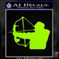 Compound Bow Hunter Decal Sticker Lime Green Vinyl 120x120