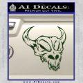 Cow Skull Decal Sticker Dark Green Vinyl 120x120