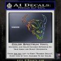 Cow Skull Decal Sticker Glitter Sparkle 120x120
