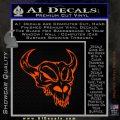 Cow Skull Decal Sticker Orange Emblem 120x120