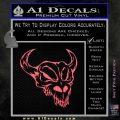 Cow Skull Decal Sticker Pink Emblem 120x120