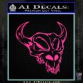Cow Skull Decal Sticker Pink Hot Vinyl 120x120