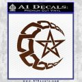 Crescent Moon And Star Decal Sticker Tribal BROWN Vinyl 120x120