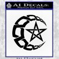 Crescent Moon And Star Decal Sticker Tribal Black Vinyl 120x120
