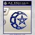 Crescent Moon And Star Decal Sticker Tribal Blue Vinyl 120x120