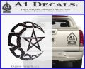 Crescent Moon And Star Decal Sticker Tribal Carbon FIber Black Vinyl 120x97
