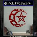 Crescent Moon And Star Decal Sticker Tribal DRD Vinyl 120x120