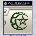 Crescent Moon And Star Decal Sticker Tribal Dark Green Vinyl 120x120