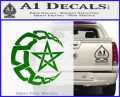 Crescent Moon And Star Decal Sticker Tribal Green Vinyl Logo 120x97