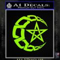 Crescent Moon And Star Decal Sticker Tribal Lime Green Vinyl 120x120