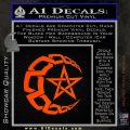 Crescent Moon And Star Decal Sticker Tribal Orange Emblem 120x120