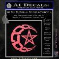 Crescent Moon And Star Decal Sticker Tribal Pink Emblem 120x120