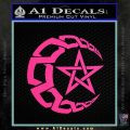 Crescent Moon And Star Decal Sticker Tribal Pink Hot Vinyl 120x120