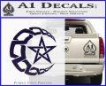 Crescent Moon And Star Decal Sticker Tribal PurpleEmblem Logo 120x97