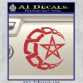 Crescent Moon And Star Decal Sticker Tribal Red 120x120