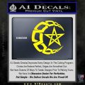 Crescent Moon And Star Decal Sticker Tribal Yellow Laptop 120x120
