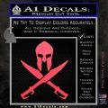 Crossed Spartan Swords Decal Sticker D2 Pink Vinyl Emblem 120x120