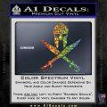 Crossed Spartan Swords Decal Sticker D2 Sparkle Glitter Vinyl 120x120